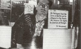 Michael J. Weldon at the Selwyn on 42nd St. From Rolling Stone (1984).